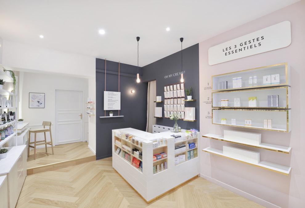 Label Experience : caisse dans l'espace vente de la boutique Oh My Cream rue Guichard à Paris