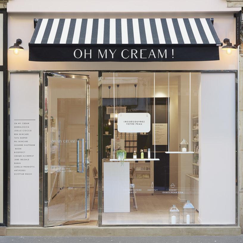 Label Experience : devanture extérieur de la boutique Oh My Cream à Levallois-Perret