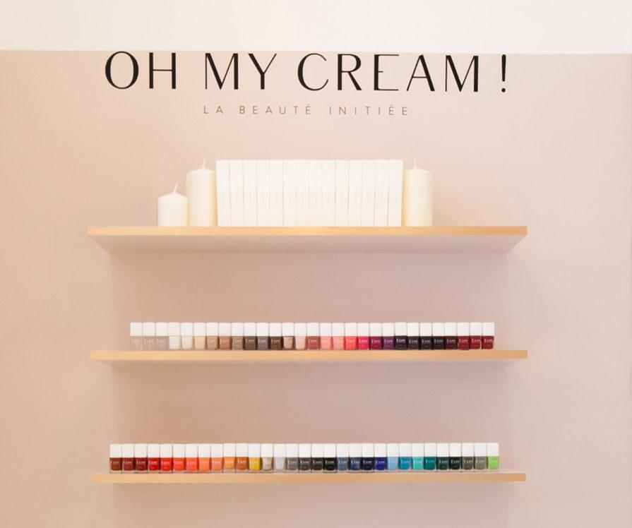 Label Experience : étagère de vernis à ongles Oh My Cream dans la boutique à Levallois-Perret