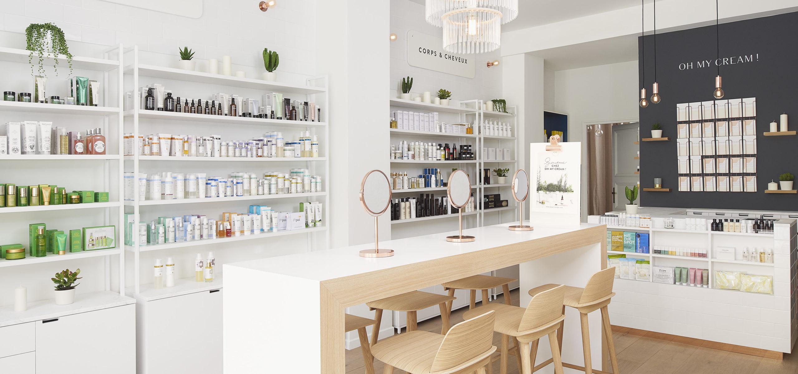 Label Experience : vue globale intérieur de la boutique Oh My Cream à Levallois-Perret