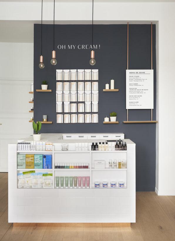 Label Experience : caisse dans l'espace vente de la boutique Oh My Cream à Levallois-Perret