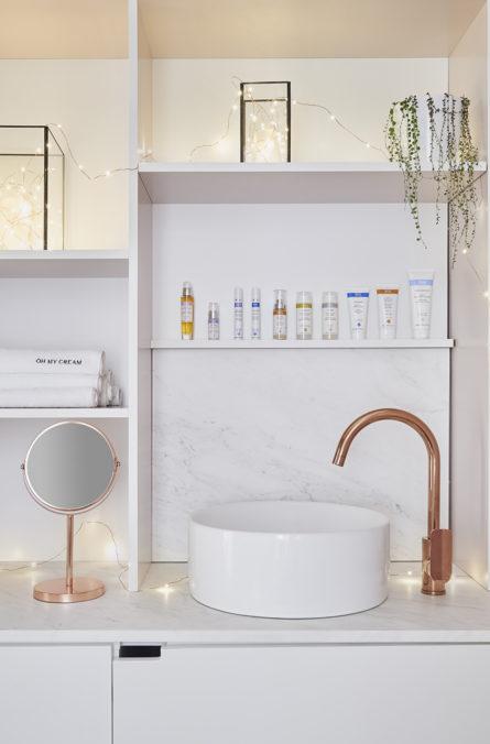 Label Experience : lavabo dans la boutique Oh My Cream à Levallois-Perret pour tester les produits