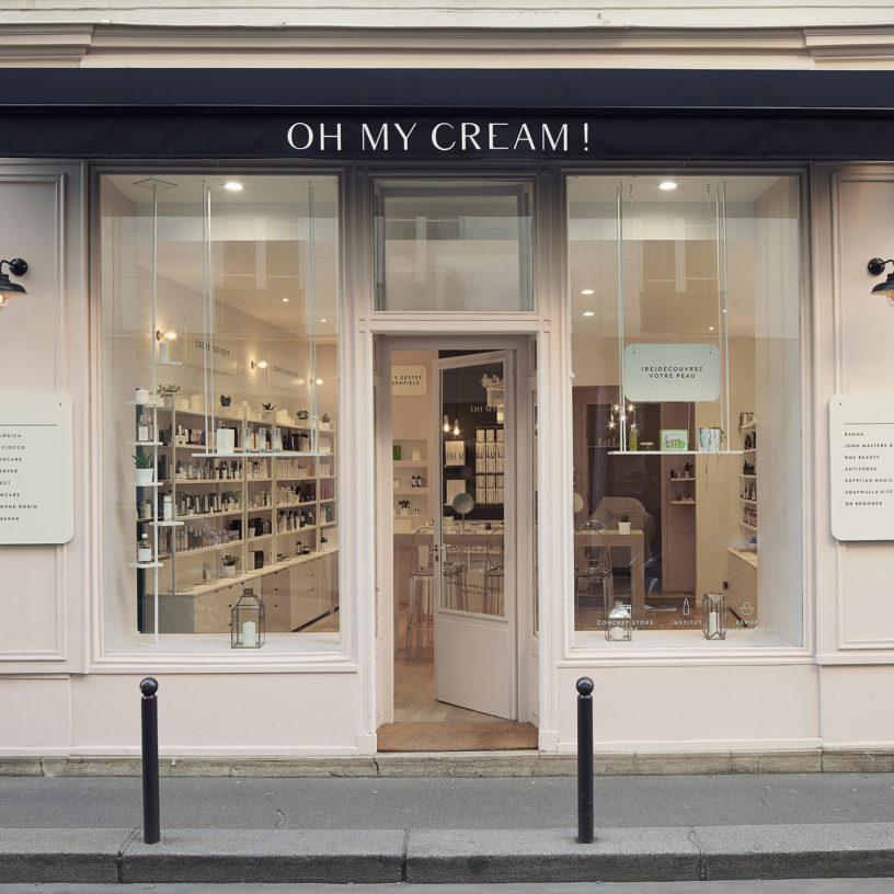 Label Experience: Devanture parisienne de la boutique « Oh my cream ! » rue du Bac à Paris.