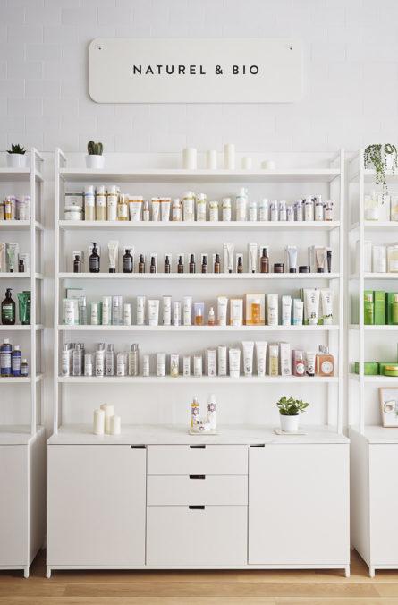 Label Experience: Rayon naturel et bio de la boutique « Oh my cream ! » rue du Bac à Paris.