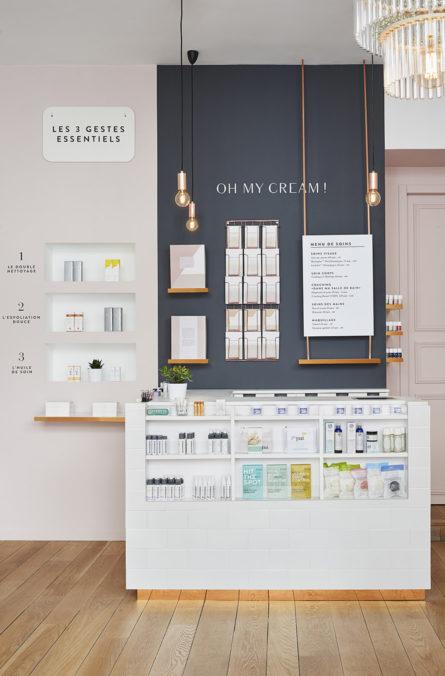 Label Experience: Caisse originale de la boutique « Oh my cream ! » rue du Bac à Paris.