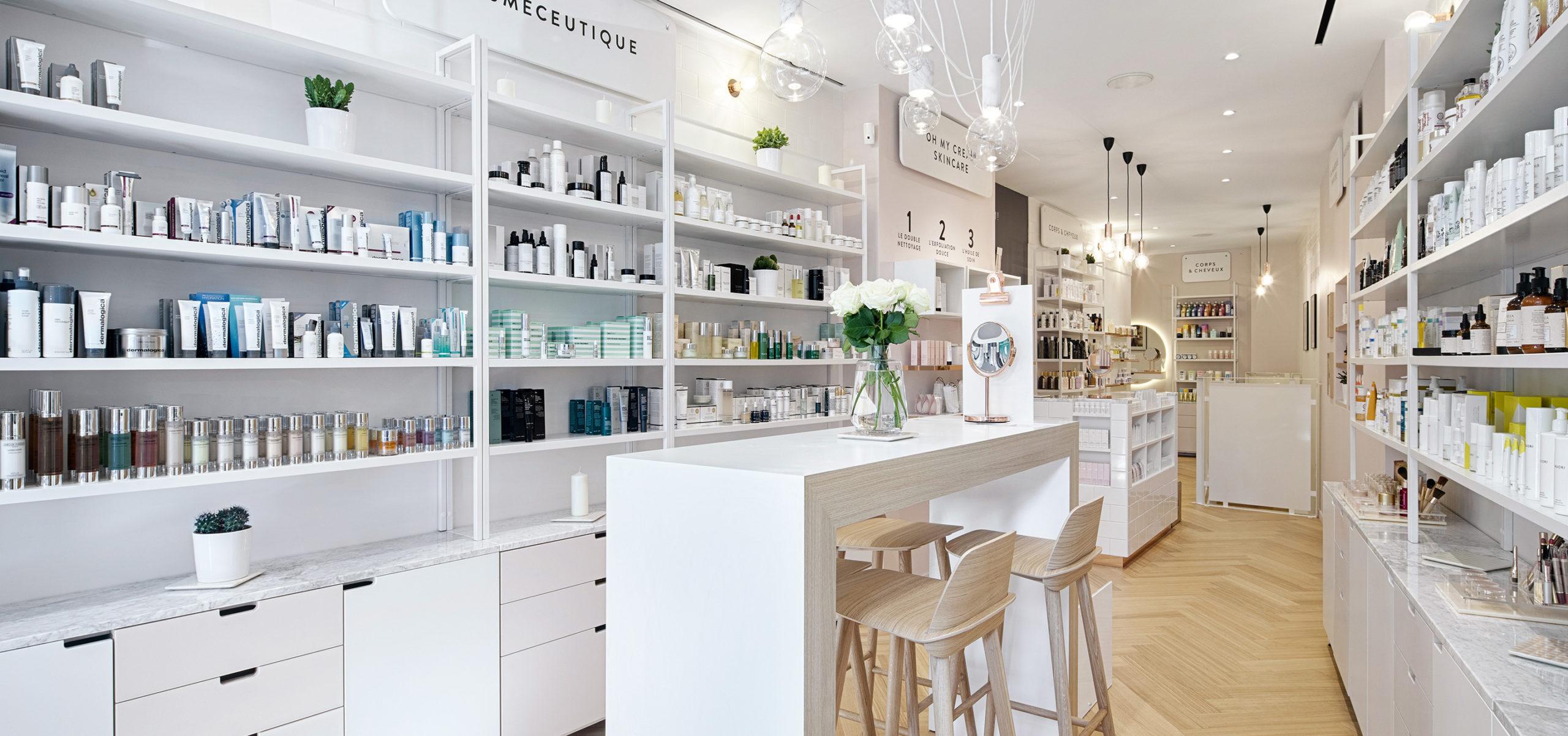 Label Experience : vue globale intérieur de la boutique Oh My Cream rue Legendre à Paris