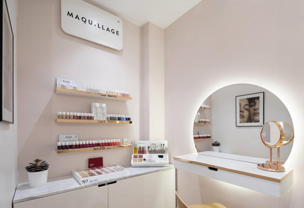 Label Experience : cabine de soin dans la boutique Oh My Cream rue Legendre à Paris