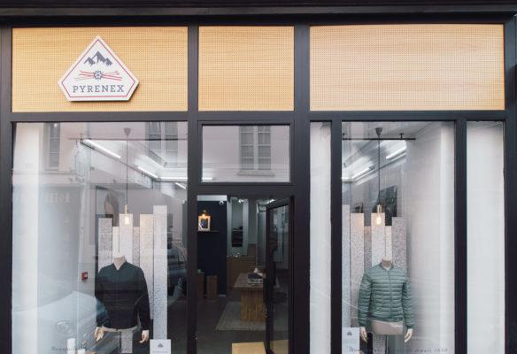 Label Experience : façade extérieure de la boutique Pyrenex à Paris