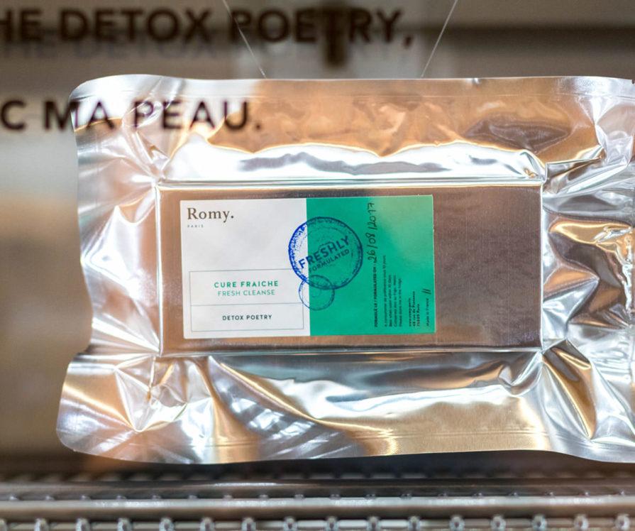 Label Experience: Capsule certifié « freshly » du pop-up store « Romy » à Paris.