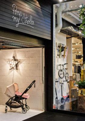 Label Experience : focus sur l'espace poussettes dans la boutique smallable à Paris