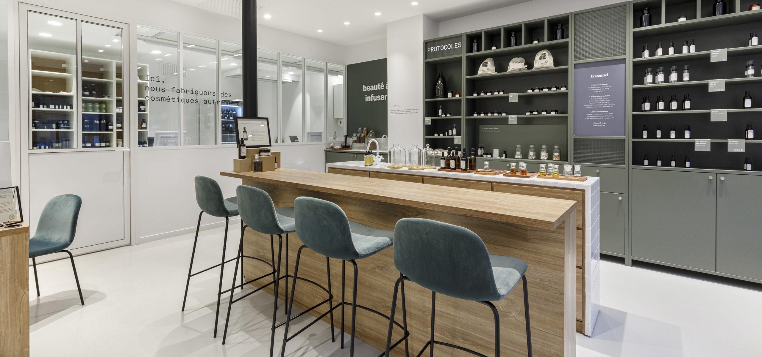 Label Experience : focus sur le bar à texture de la boutique Laboté à Paris