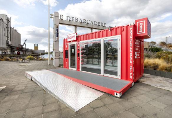 Label Experience : environnement de la boutique Boxy by Storelift