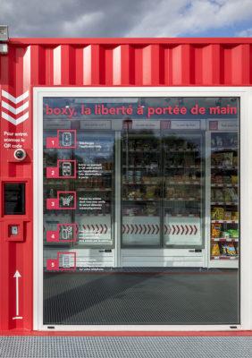 Label Experience : vitrine de la boutique Boxy by Storelift