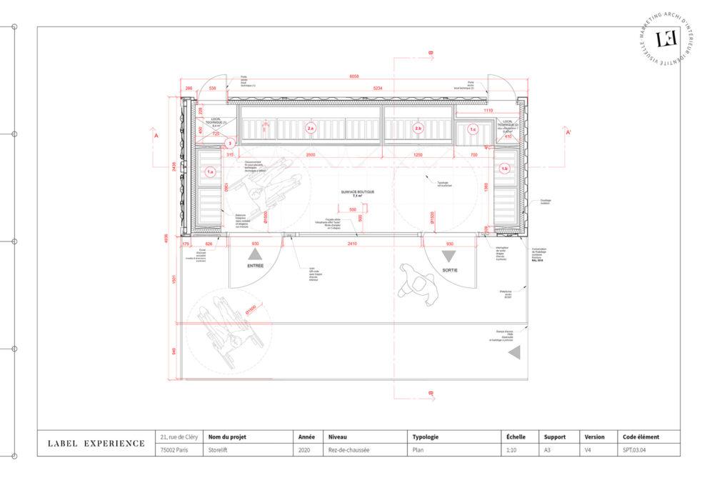 Label Experience : plans de la boutique Boxy by Storelift