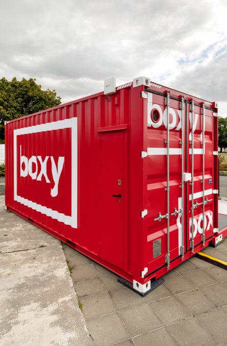 Label Experience : extérieur de la boutique Boxy by Storelift