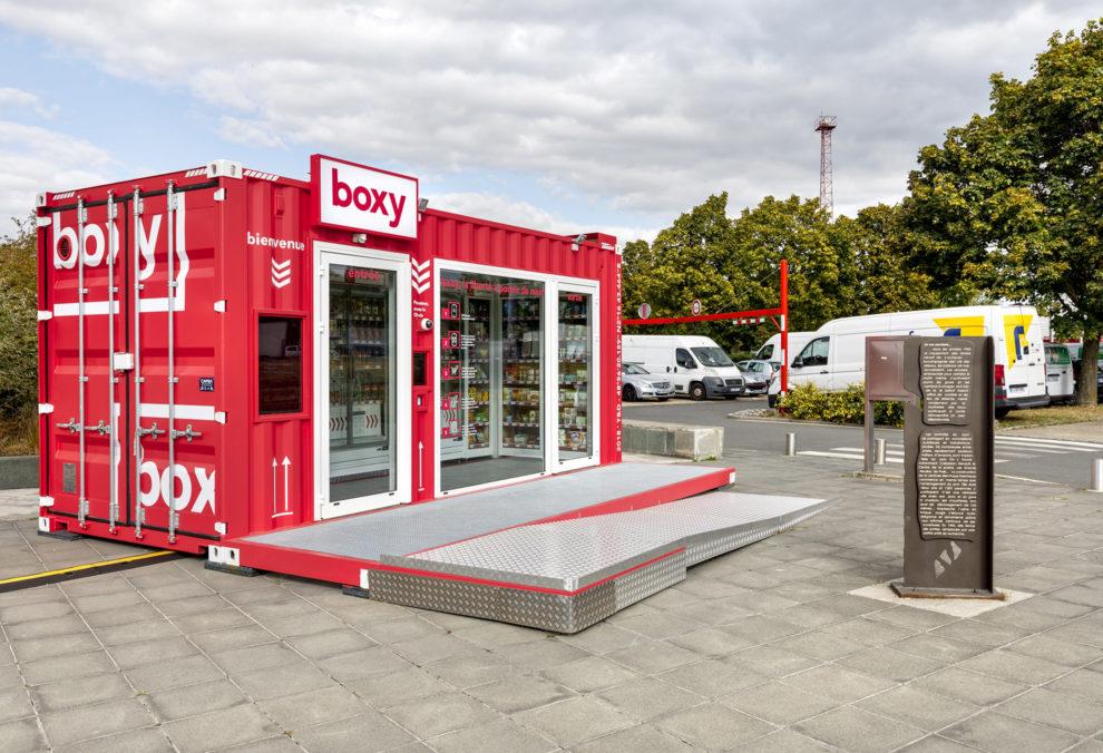 Label Experience : vue globale de la boutique Boxy by Storelift