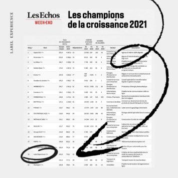 champion croissance 2021 Les Echos Label Experience
