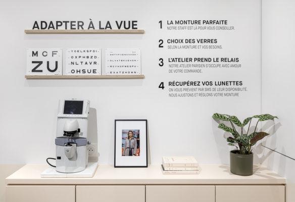 Label Experience : comptoir optique de la boutique Le Petit Lunetier à Paris