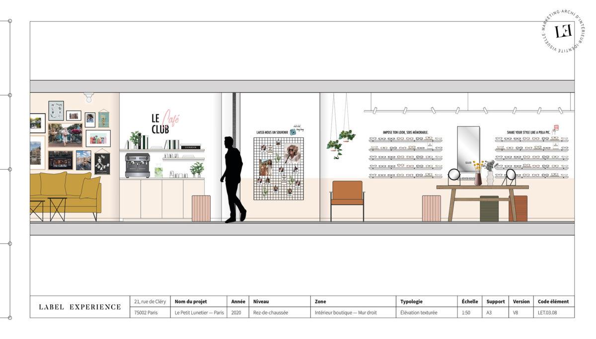 Label Experience : élévation de la boutique Le Petit Lunetier à Paris