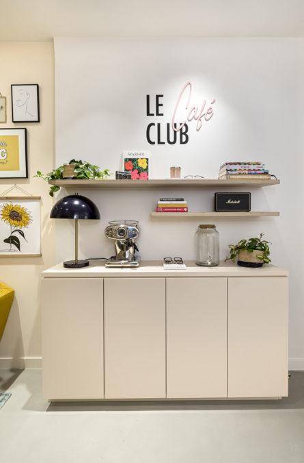 Label Experience : comptoir à café de la boutique Le Petit Lunetier à Paris