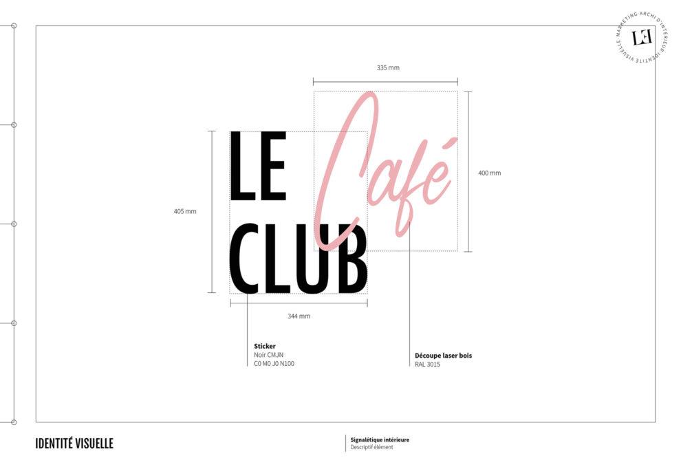 Label Experience : signalétique Le Café Club de la boutique Le Petit Lunetier à Paris