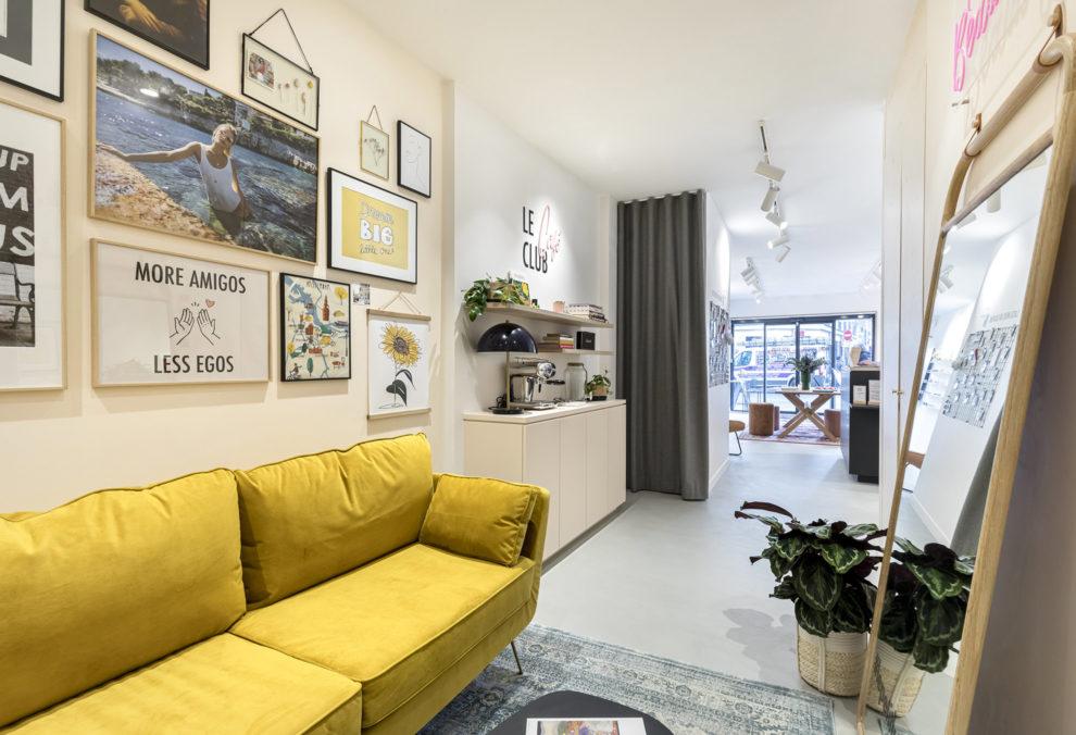 Label Experience : espace convivialité de la boutique Le Petit Lunetier à Paris