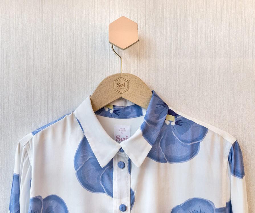 Label Experience : vêtement de la marque Soi dans la boutique à Saint-Germain-des-Prés