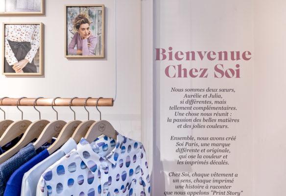 Label Experience : discours de la marque Soi dans la boutique à Saint-Germain-des-Prés