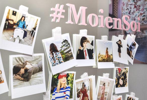 Label Experience : mur de photos de la marque Soi dans la boutique Saint-Germain-des-Prés