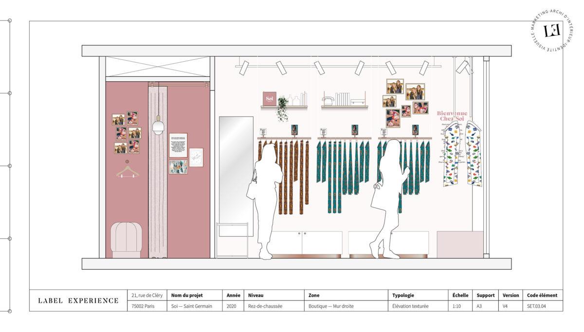 Label Experience : Élévation de la boutique Soi à Saint-Germain-des-Prés
