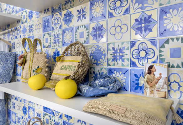 Les mosaïques de la villa pour le corner Vanessa Bruno par Label Experience