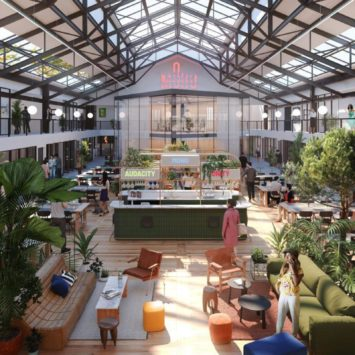 Visuel 3D de l'atrium de Moho à Caen