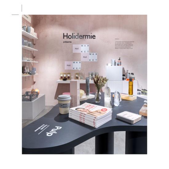 Table Gua Sha pour le corner Holidermie par Label Experience